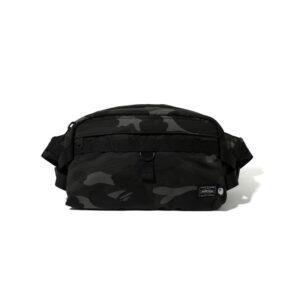BAPE x Porter Color Camo Waist Bag Black 2