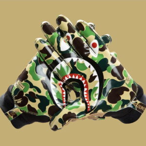 BAPE x adidas Adizero 8.0 Gloves Green 1