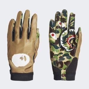 BAPE x adidas Adizero 8.0 Gloves Green 2