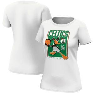 Boston Celtics Fanatics Branded Space Jam Tune Squad Daffy Duck T Shirt Womens 1