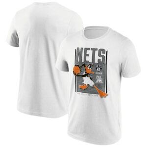 Brooklyn Nets Fanatics Branded Space Jam Tune Squad Daffy Duck T Shirt Mens 1