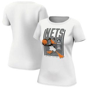 Brooklyn Nets Fanatics Branded Space Jam Tune Squad Daffy Duck T Shirt Womens 1