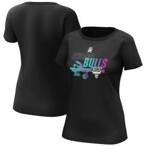 Chicago Bulls Fanatics Branded Space Jam Baller Bugs T Shirt Womens 1