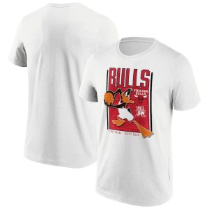 Chicago Bulls Fanatics Branded Space Jam Tune Squad Daffy Duck T Shirt Mens 1