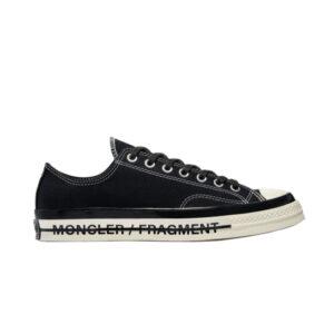 Fragment Design x Moncler x Converse Chuck 70 Low Black