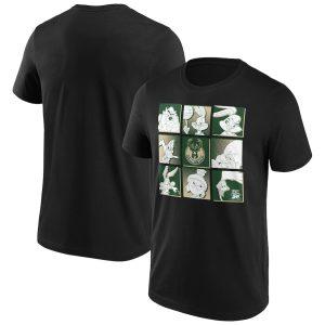 Milwaukee Bucks Fanatics Branded Space Jam Tune Squad T Shirt Mens 1