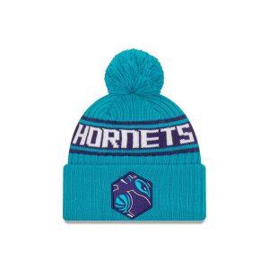 New Era Charlotte Hornets 2021 Draft Edition Pom Knit NBA Beanie 1