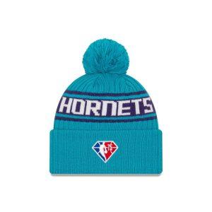 New Era Charlotte Hornets 2021 Draft Edition Pom Knit NBA Beanie 2