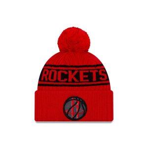 New Era Houston Rockets 2021 Draft Edition Pom Knit NBA Beanie 1