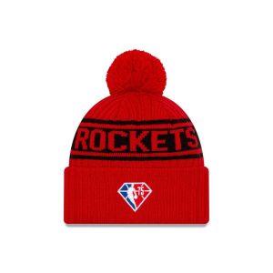 New Era Houston Rockets 2021 Draft Edition Pom Knit NBA Beanie 2