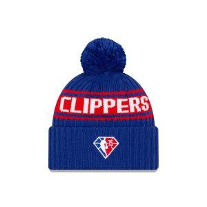 New Era Los Angeles Clippers 2021 Draft Edition Pom Knit NBA Beanie 2