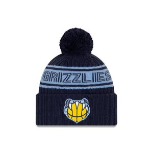 New Era Memphis Grizzlies 2021 Draft Edition Pom Knit NBA Beanie 1