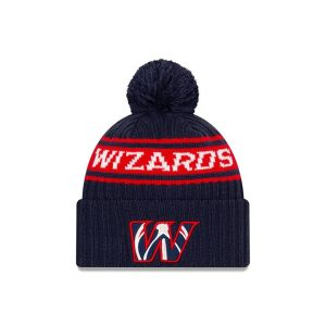 New Era Washington Wizards 2021 Draft Edition Pom Knit NBA Beanie 1