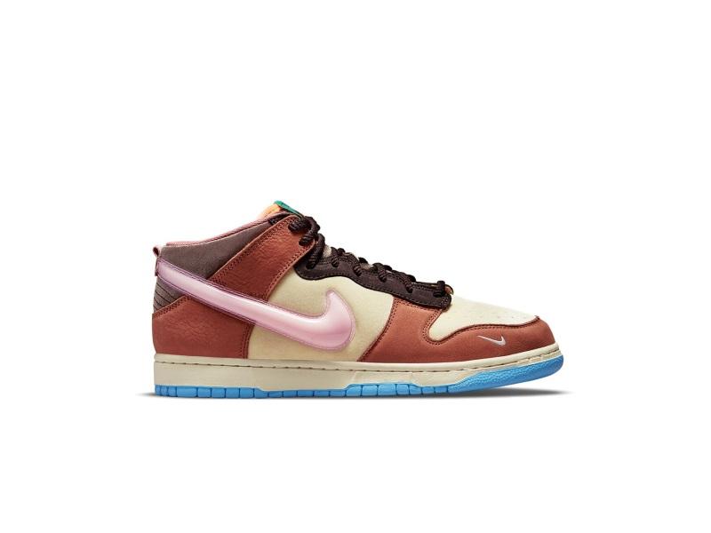 Nike Dunk Mid Social Status Milk Carton Burnt Brown