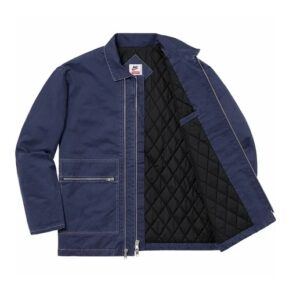 Supreme x Nike Double Zip Quilted Work Jacket Navy 2