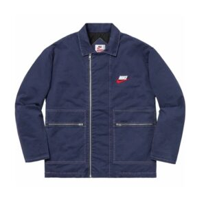 Supreme x Nike Double Zip Quilted Work Jacket Navy