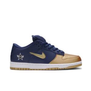Supreme x Nike Dunk SB Low QS Metallic Gold