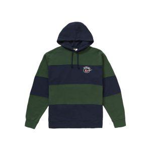 Supreme x Nike Stripe Hooded Sweatshirt Navy