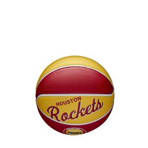 Wilson Houston Rockets Team Logo Retro Mini NBA Basketball 1
