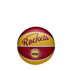 Wilson Houston Rockets Team Logo Retro Mini NBA Basketball