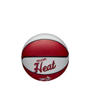 Wilson Miami Heat Team Logo Retro Mini NBA Basketball 1