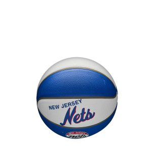 Wilson New Jersey Nets Team Logo Retro Mini NBA Basketball 1