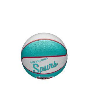 Wilson San Antonio Spurs Team Logo Retro Mini NBA Basketball 1