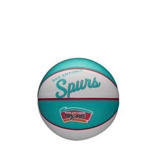 Wilson San Antonio Spurs Team Logo Retro Mini NBA Basketball