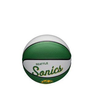 Wilson Seattle Supersonics Team Logo Retro Mini NBA Basketball 1