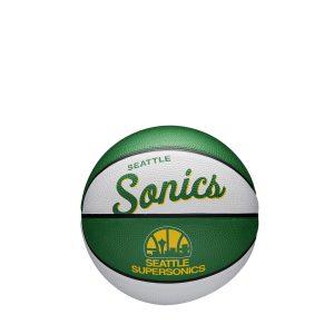 Wilson Seattle Supersonics Team Logo Retro Mini NBA Basketball