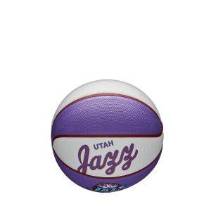 Wilson Utah Jazz Team Logo Retro Mini NBA Basketball 1