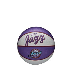Wilson Utah Jazz Team Logo Retro Mini NBA Basketball
