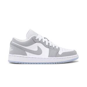 Wmns Air Jordan 1 Low White Wolf Grey 1