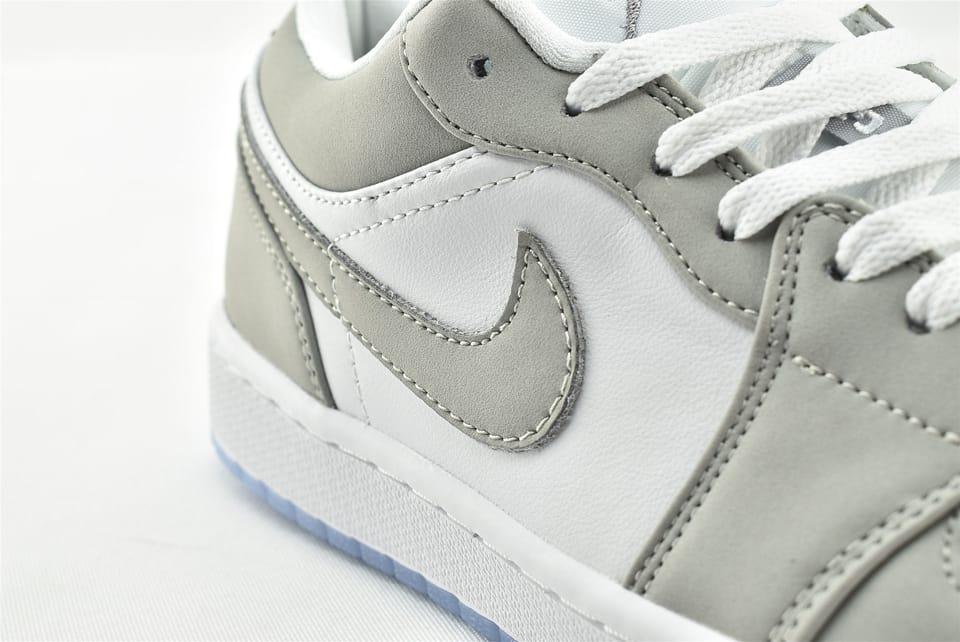 Wmns Air Jordan 1 Low White Wolf Grey 12