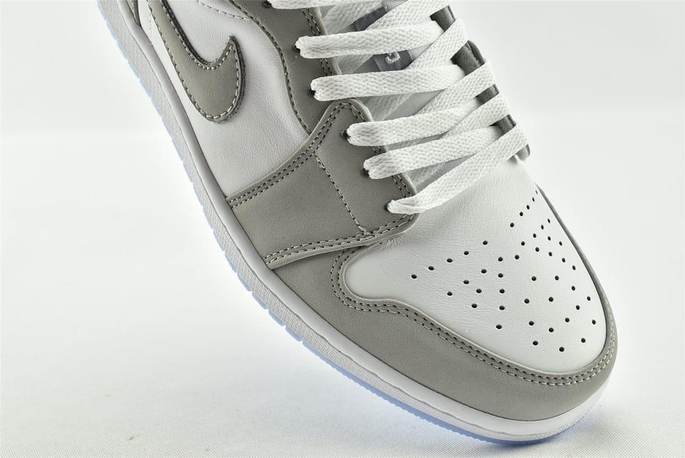 Wmns Air Jordan 1 Low White Wolf Grey 14