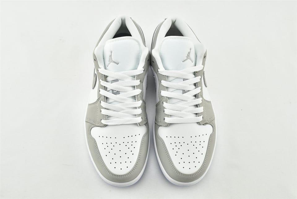 Wmns Air Jordan 1 Low White Wolf Grey 3
