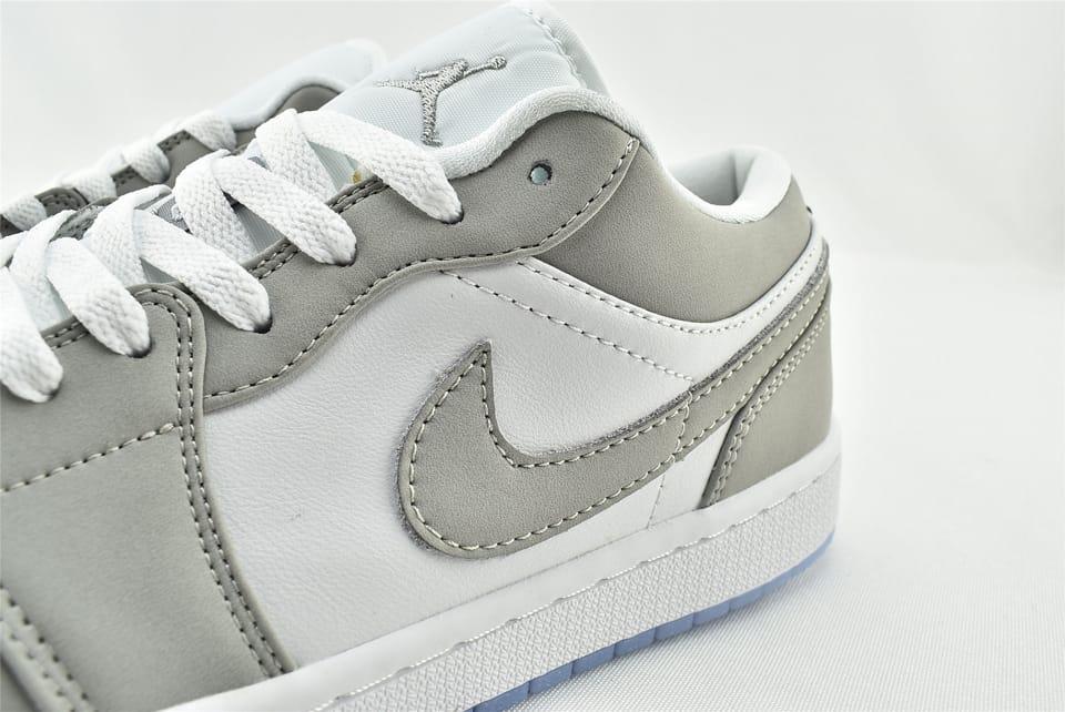Wmns Air Jordan 1 Low White Wolf Grey 6