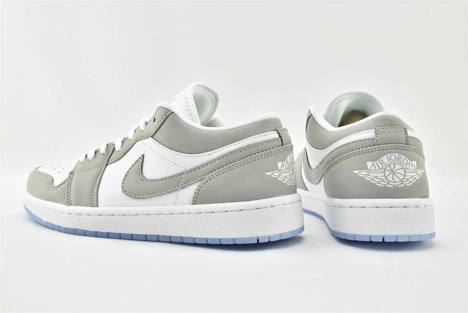 Wmns Air Jordan 1 Low White Wolf Grey 8