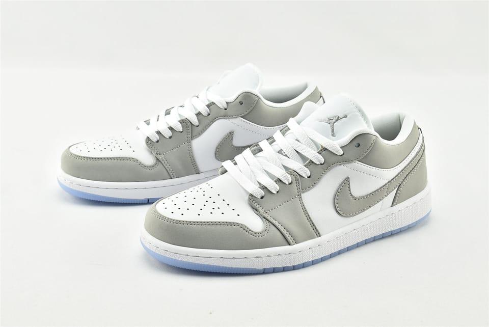 Wmns Air Jordan 1 Low White Wolf Grey 9
