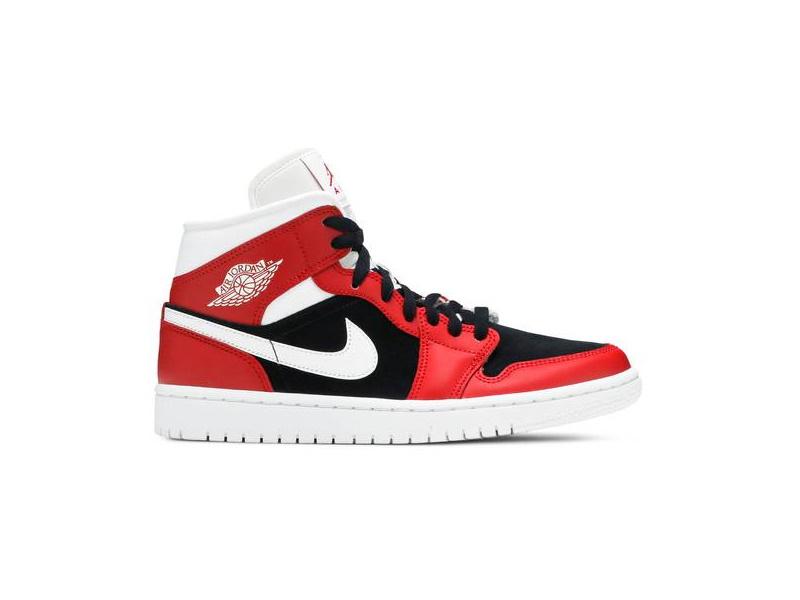 Wmns Air Jordan 1 Mid Gym Red Black