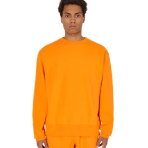 adidas Pharrell Williams Basics Crewneck Sweatshirt Bright Orange