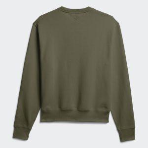 adidas Pharrell Williams Basics Crewneck Sweatshirt Olive Cargo 4