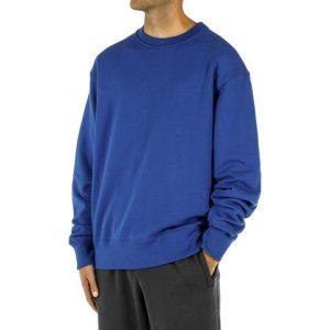 adidas Pharrell Williams Basics Crewneck Sweatshirt Power Blue 1