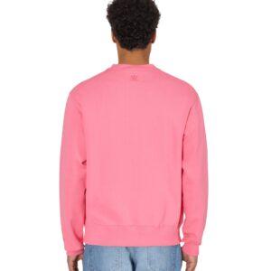 adidas Pharrell Williams Basics Crewneck Sweatshirt Semi Solar Pink 2