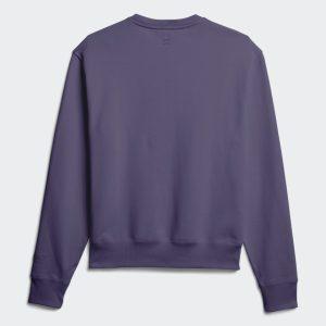 adidas Pharrell Williams Basics Crewneck Sweatshirt Tech Purple 4