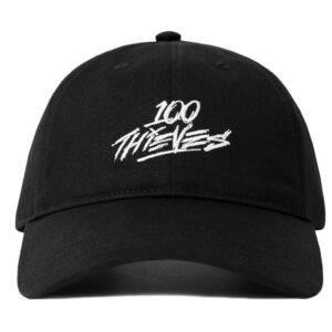 100 Thieves No Camping Dad Hat Black 1.1.