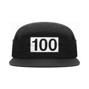 100 Thieves Numbers 5 Panel Black
