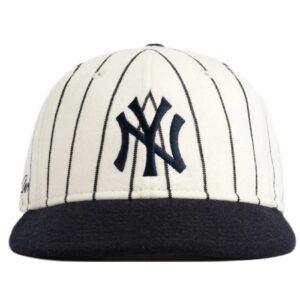 Aime Leon Dore New Era Wool Pinstripe Yankee Hat WhiteNavy