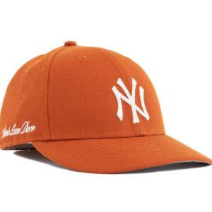 Aime Leon Dore x New Era Chain Stitch Yankees Hat Orange 1