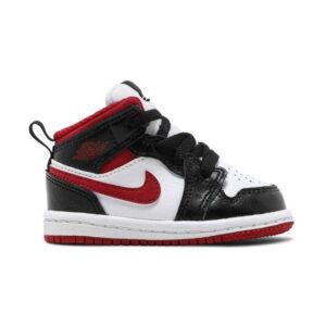 Air Jordan 1 Mid TD Black Gym Red